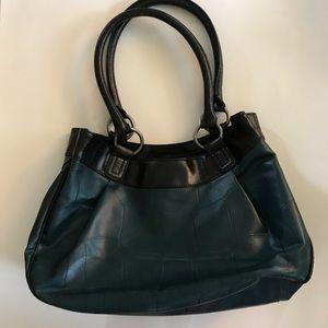 Simply Vera Vera Wang teal Shoulder bag purse